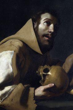 """Saint Francis in Meditation"" (detail), 1639, Francisco de Zurbarán."