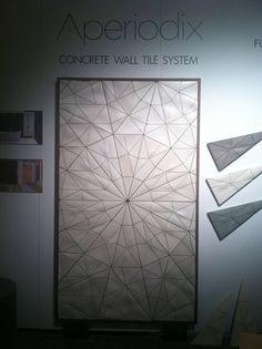 Aperiodix concrete wall tile