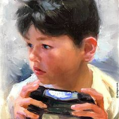 """GAMER"", 30x40 cm, oil on canvas, artist Vladimir Volegov"