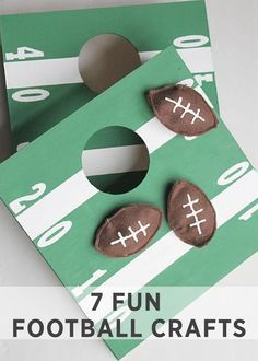 Here's a DIY twist on a favorite backyard game, the cornhole toss. The kids will love this smaller, indoor version and the football theme makes for a fun party game!