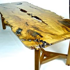 Mesquite and White Oak tree slab table by RusticAlchemy on Etsy