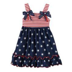 Sophie Rose Stars & Stripes Dress - Toddler Girl