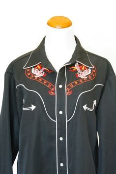 328626e93aa 80 s Vintage Mens Western Shirt Cowboy Style by pinebrookvintage