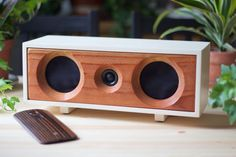 Wood Speaker System || Wireless Bluetooth Speaker From Reclaimed Wood || Willow Speaker | Heritage White & Redwood || FREE SHIPPING