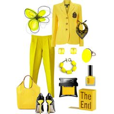 """yellow"" by vampyrka on Polyvore"