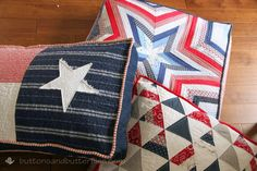 Red, White, and Blue {Floor Cushions}: Bean Bag Cushions