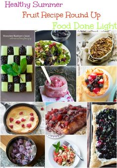 Healthy Summer Fruit Recipe Round Up www.fooddonelight.com #summer #fruit #healthy
