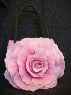 How to make rose felt bag see step-by-step fotos