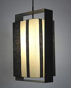 Halo box pendant by Bone Simple. Lighting We Love at Design Connection, Inc… Pendant Light Fixtures, Ceiling Fixtures, Ceiling Lamp, Pendant Lamp, Ceiling Lights, Interior Lighting, Lighting Design, Asian Lamps, Art Nouveau