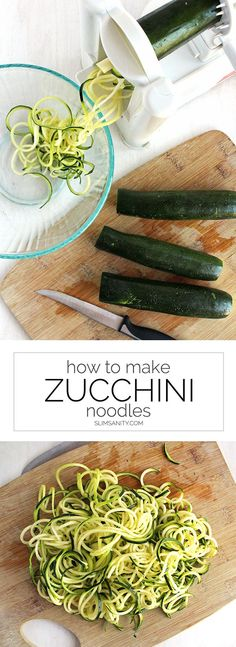 How to Make Zucchini Noodles @slimsanity | This low-carb pasta alternative is sure can make family dinner not only fun, but delicious. Bring on the zoodles! | slimsanity.com