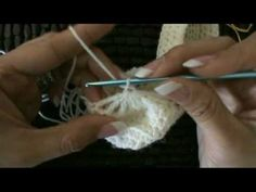 Crochet Mary Jane Baby Booties Slippers #4 tutorial