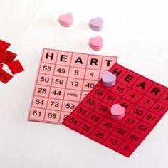 Valentine's bingo--make smaller numbers for kindergarten kids.