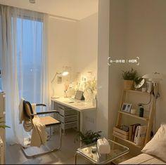 Room Design Bedroom, Room Ideas Bedroom, Home Bedroom, Bedroom Decor, Bedrooms, Study Room Decor, Minimalist Room, Pretty Room, Aesthetic Room Decor