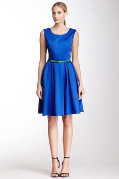 Sleeveless Belted Dress