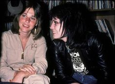 Susy Quatro and Joan Jett