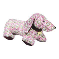 Cachorra Salsicha em tecido Liberty.