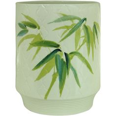 The Bacova Zen Bamboo Wastebasket Brings Peace And Tranquility To Your  Bathroom. This Wastebasket Features