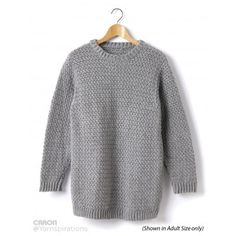 Child's Crochet Crew Neck Pullover