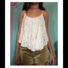Windsor White Layered Daisy Cami Worn once, in excellent condition. I don't wear it anymore WINDSOR Tops Camisoles