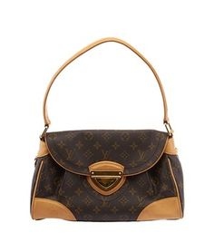 83ebef341f40 Louis Vuitton Beverly Monogram (26757) Brown & Gold Coated Canvas Leather  Hobo Bag