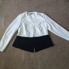 Black and White Blazer This blazer is gorgeous but I unfortunately purchased the wrong size and took the tags off. City Chic size small=1x or size 14 NWOT City Chic Jackets & Coats Blazers