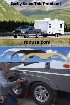 Quickly and easily replace those cracked or damaged trailer fender skirts with our huge selection of factory replacement fender skirts. Available in many different styles and colors. #camper #rvs #campertrailer #traveltrailer #rvtrailer