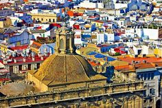 Photo:  Aerial Rooftops Medieval City Seville