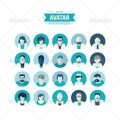 Flat Design Avatar Icons for Medicine #characters