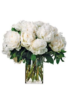 Iman's Holiday Gift Guide via Harper's BAZAAR - fresh peonies