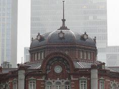 Snowing day. Tokyo Station, Taj Mahal, Louvre, Building, Travel, Viajes, Buildings, Destinations, Traveling