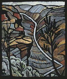 Shoalhaven Gorge NSW by Australian artist Margaret Preston Margaret Rose, Margaret Preston, Australian Painting, Australian Artists, Landscape Art, Landscape Paintings, Landscapes, Watercolor Landscape, Watercolour