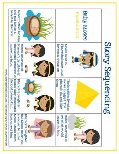 baby moses prek pack story sequence