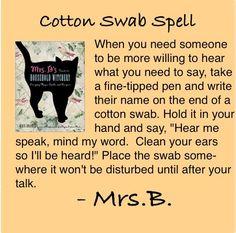 Pagan Spells | cotton swab spell | wiccan/pagan pics