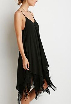 Fringe Trapeze Cami Dress | Forever 21 - 2000183912