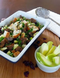 Sausage Apple and Cranberry Stuffing is full of flavorful ingredients that will take your taste buds on a wonderful ride! The cranberries, apples, and sausage work in perfect harmony to create spoonful after spoonful of sweet, savory, and delicious magic! A family favorite for sure!