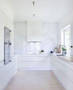 Marmor, marble, vitt, kök, vit