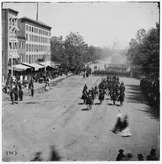 Pennsylvania Ave. during the Civil War. Click the image for more Civil War sites of Washington DC.