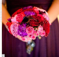 Pink and Purple Bouquets