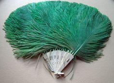 1920's Ostrich Feather Fan/ Bakelite Frame  by bushnellfashions, $65.00