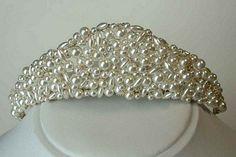 Diane pearl tiara by Tiara Belles...Beautiful!