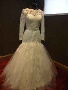 Wedding Dress with Sleeves from #weddingdressfantasy.com #tovamarc #couturedebride #lace #sleeves #wedding #dress #bridal #gown