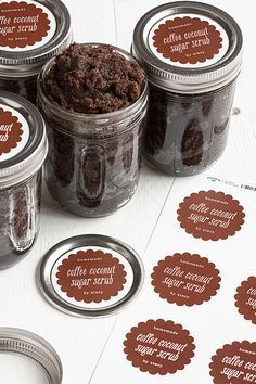 Homemade Coffee-Coconute Sugar Scrub | The Evermine Blog | www.evermine.com                                                                                                                                                                                 More