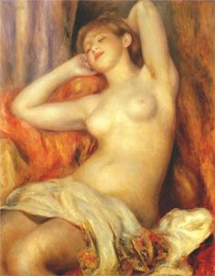 Pntura a óleo sobre tela de Renoir