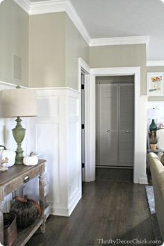 Adding thick Craftsman door trim to doorways adds tons of character! #DIY.