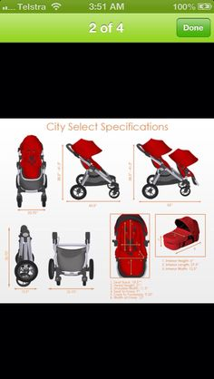 Baby jogger city select specifications