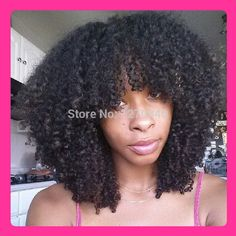 Find More Wigs Information about GQ 150density Glueless full lace human hair wigs / lace front wigs human hair afro wig for black women virgin brazilian hair wig,High Quality Wigs from Glamour Fashion Hair CO.,LTD on Aliexpress.com