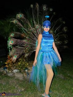 Animal costume ideas for girls: Beautiful Peacock Costume