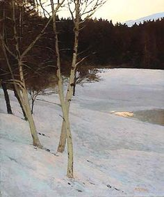 Winter Evening, 20 x 24 inches, oil on panel. Marc Bohne