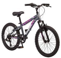 """Kids Bicycle """"20"""" Girls 7 Speed Mongoose Byte Bike, Grey"""" Gray #Mongoose"""