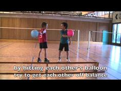 ▶ Fun Balance Games: Balloon Fight on Bench, Balance Improvement Exercises, Ways to Improve Balance - YouTube
